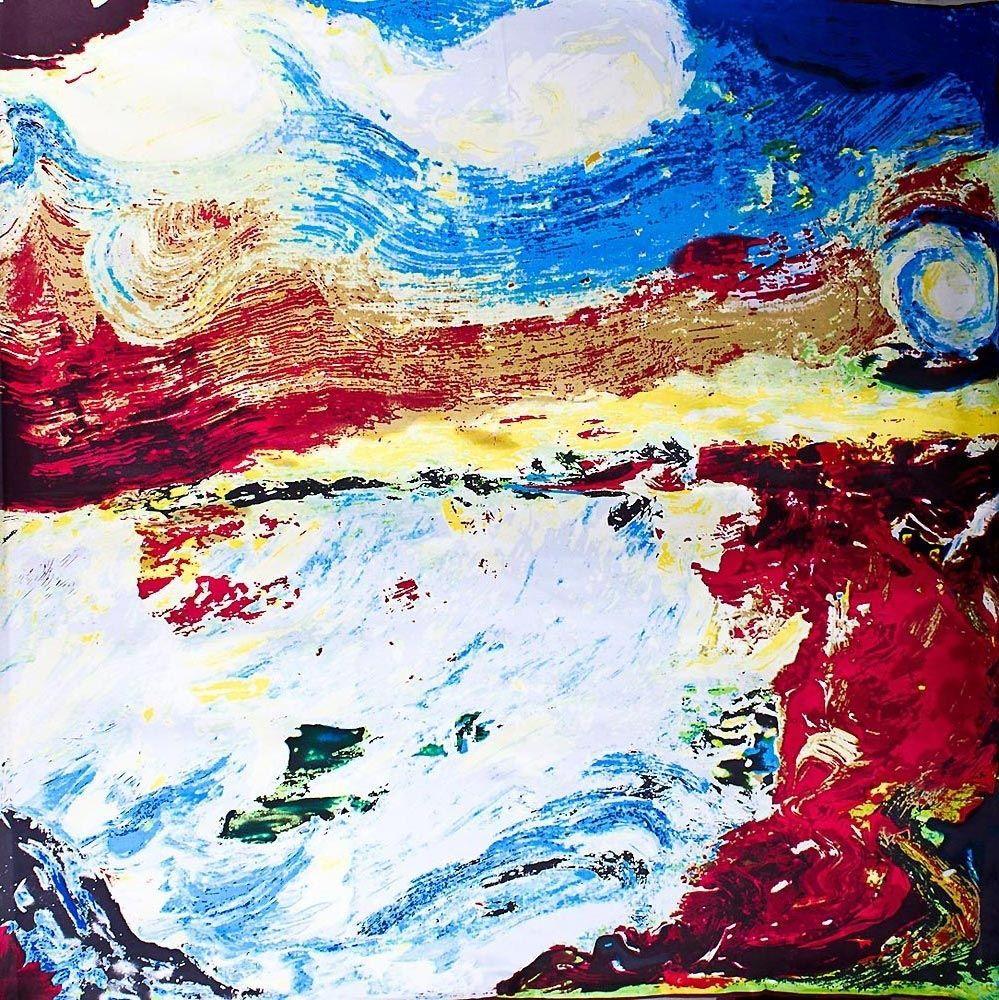 Шелковый платок Eterno с принтом в стиле импрессионизм