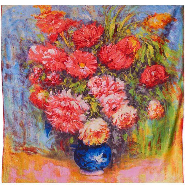 Платок Eterno SilkArt Букет в стиле импрессионизма