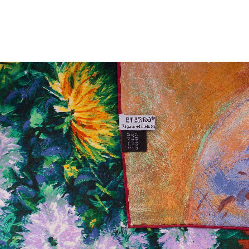 Платок Eterno SilkArt Астры в стиле импрессионизма