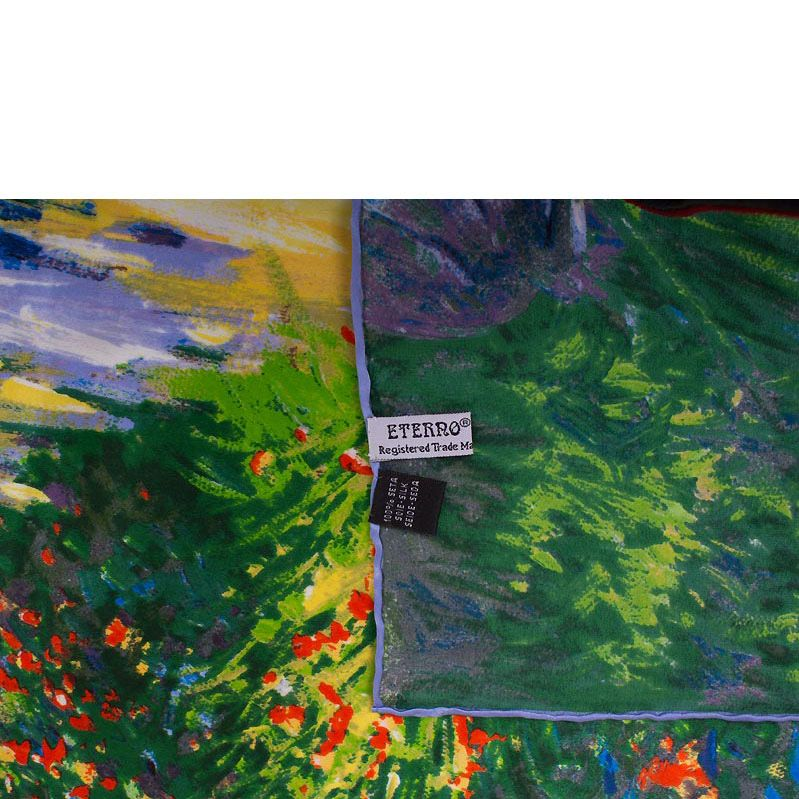 Платок Eterno SilkArt по мотивам картины Клода Моне Жизнь как цветущий сад