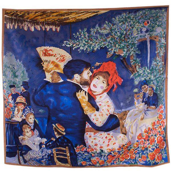 Платок Eterno SilkArt по мотивам картины Ренуара Деревенский танец