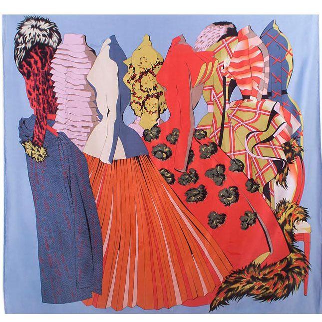 Платок Eterno SilkArt по мотивам работ Тулуза Лотрека