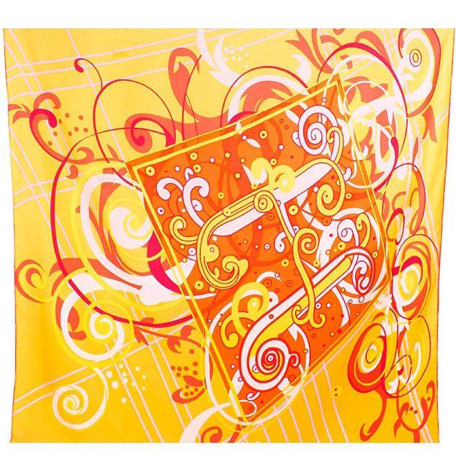 Шелковый платок Eterno желто-оранжевый