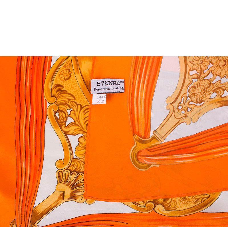 Шелковый платок Eterno оранжевый