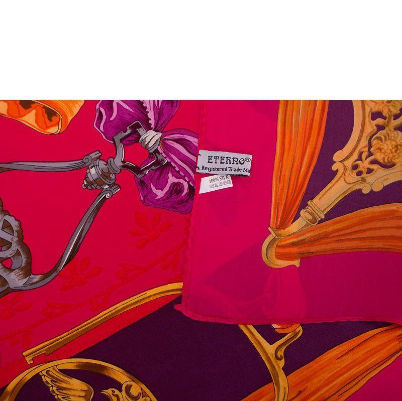Шелковый платок Eterno ярко-розовый