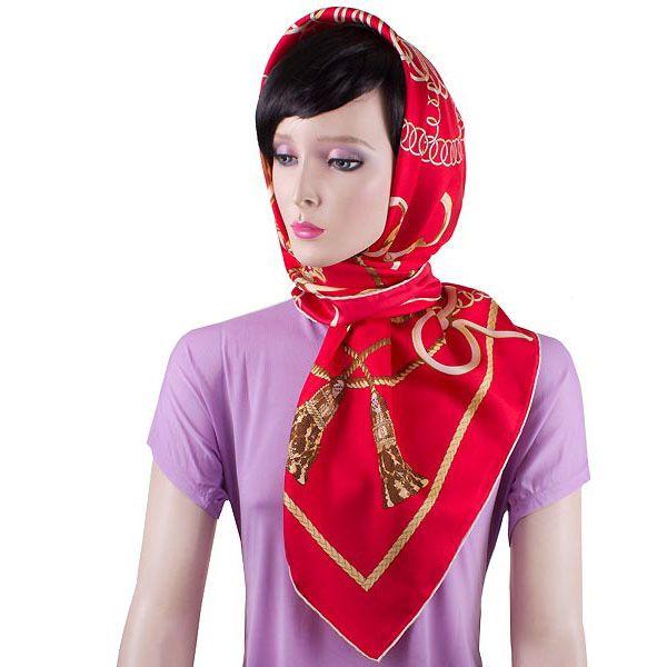 Шелковый платок Eterno красный