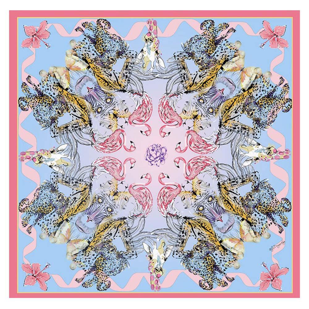 Голубой платок D.OLYA by Olga Dvoryanskaya из итальянского шелка