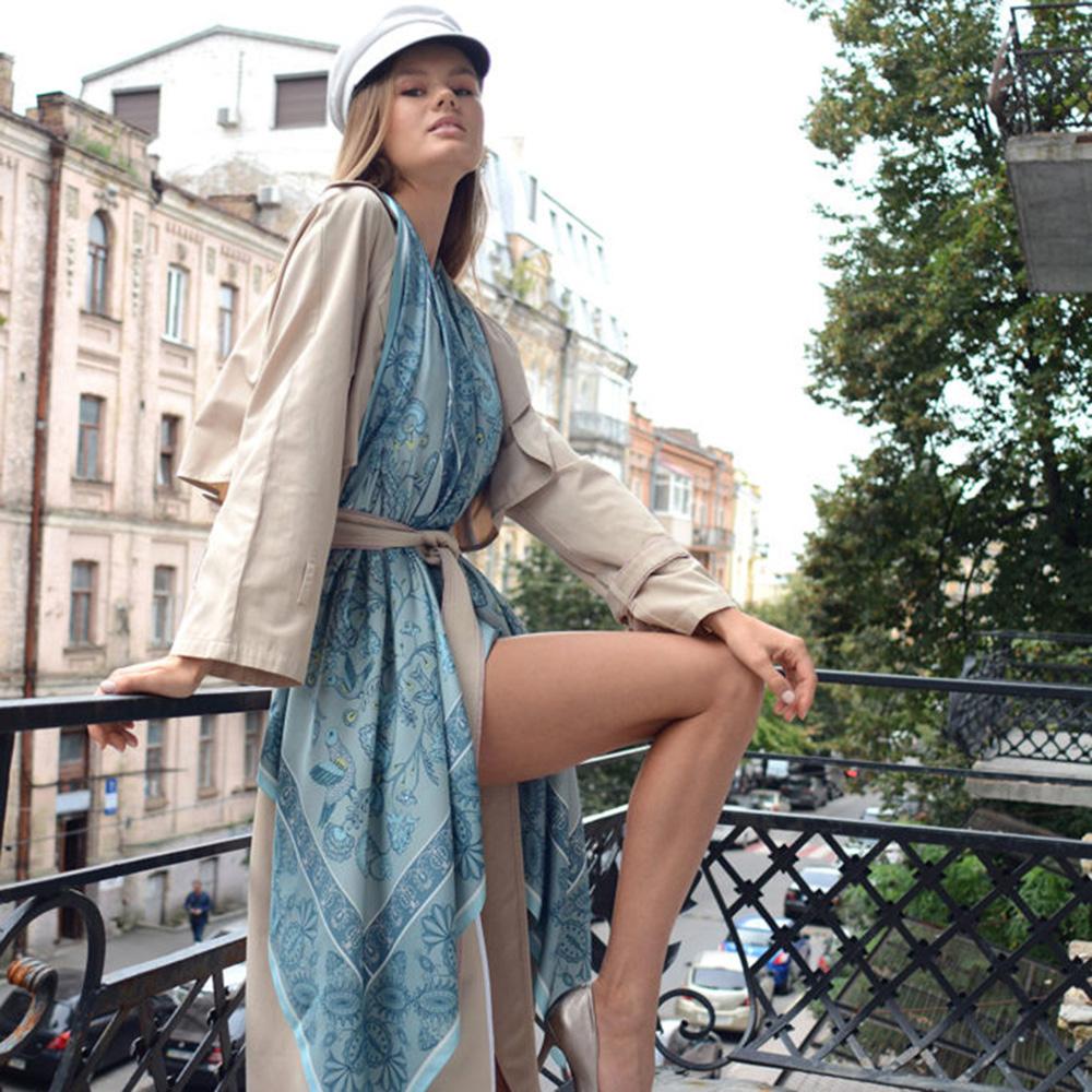 Большой шелковый платок D.OLYA by Olga Dvoryanskaya First Lady