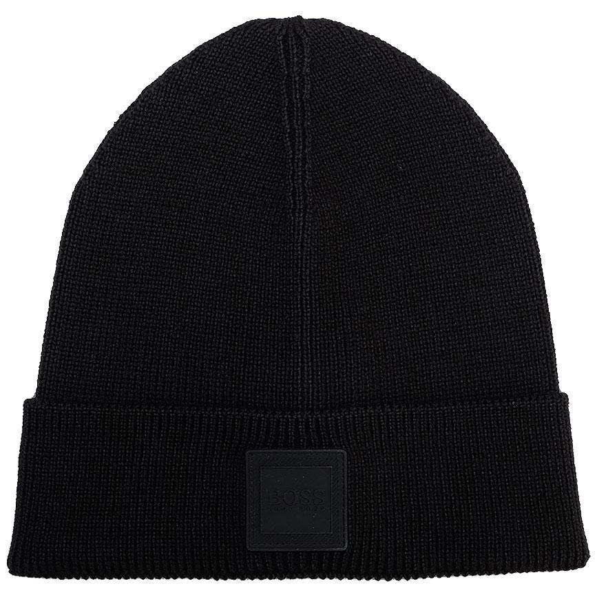 Черная шерстяная шапка Hugo Boss для мужчин