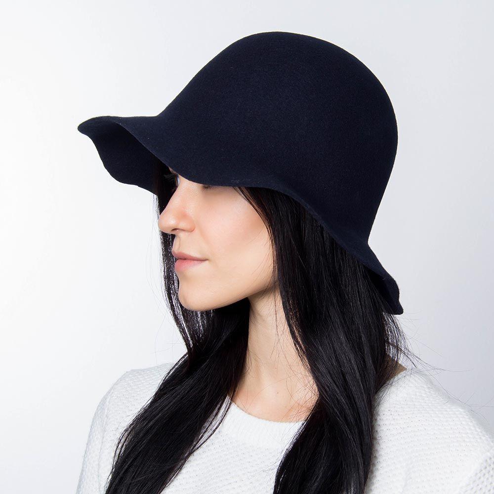 Шляпа флоппи Hat You синего цвета с короткими полями