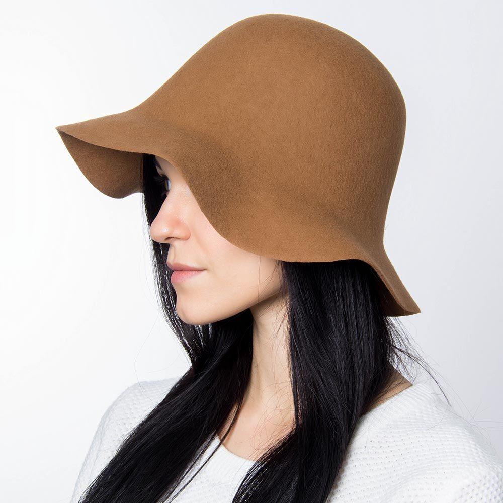 Шляпа флоппи Hat You светло-коричневого цвета с короткими полями