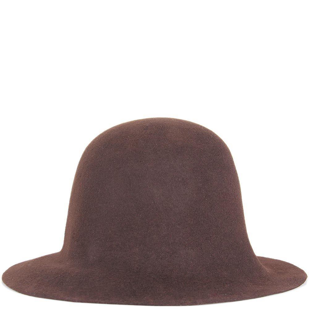 Шляпа флоппи Hat You темно-коричневого цвета с короткими полями