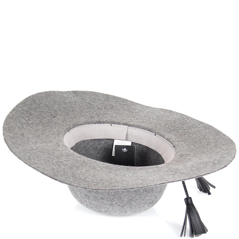 Шляпа флоппи Hat You серого цвета с кожаными кисточками