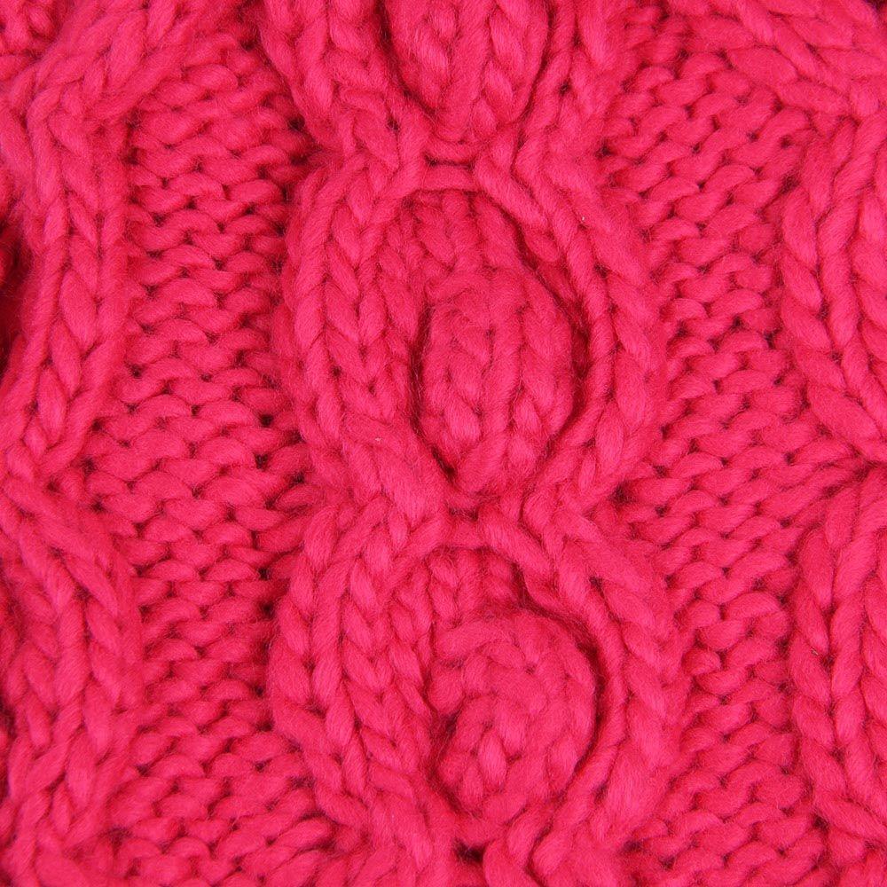 Шапка Hat You ярко-розового цвета с балабоном