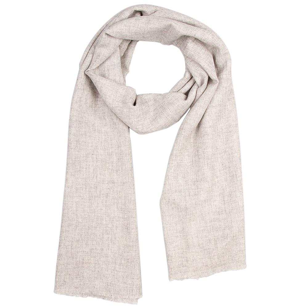 Кашемировый шарф вуальный Chadrin серый