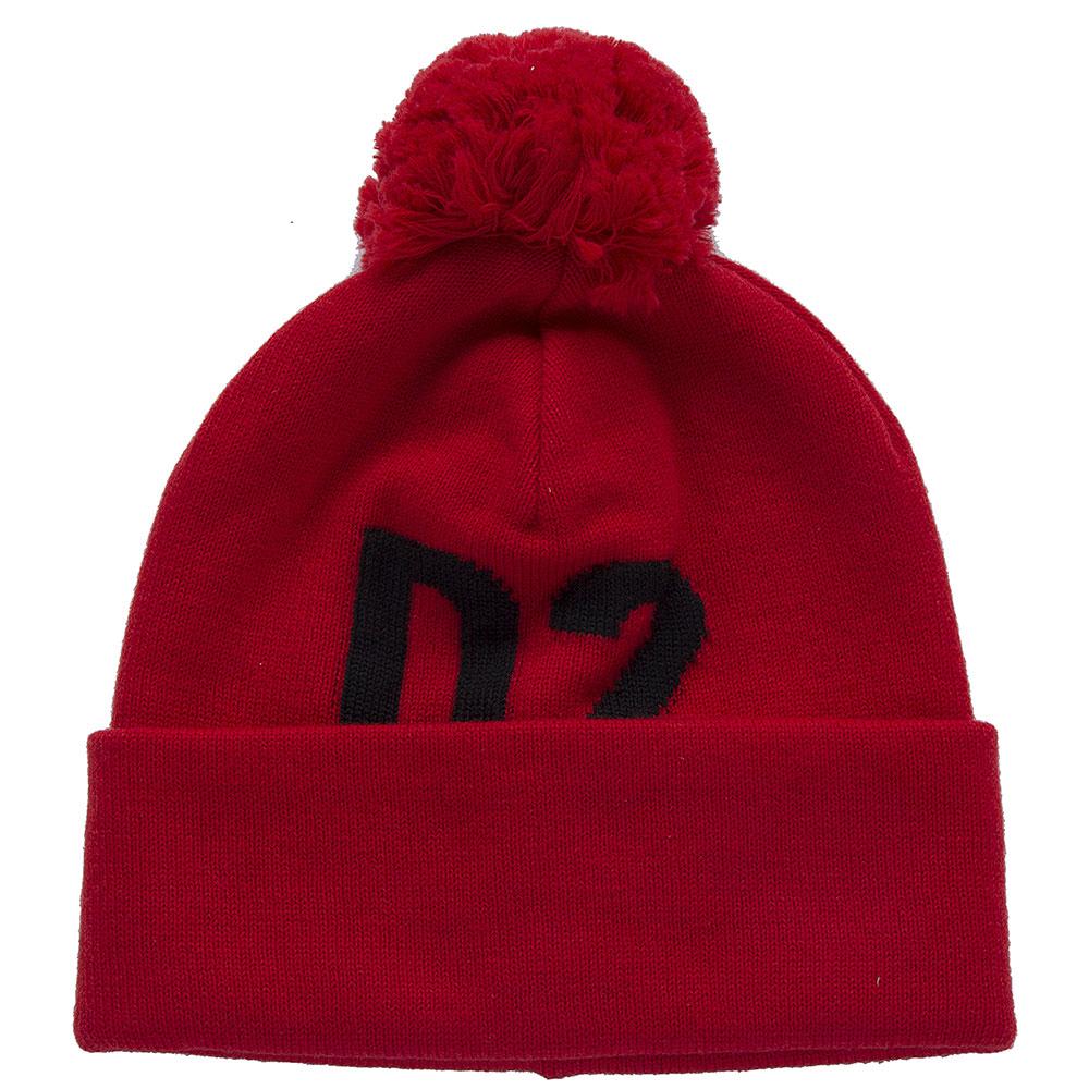 Красная шапка Dsquared2 с помпоном