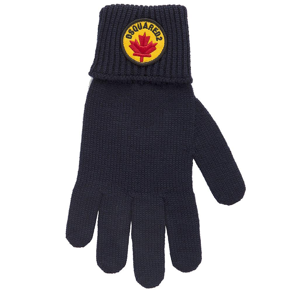 Шапка с перчатками Dsquared2 синего цвета