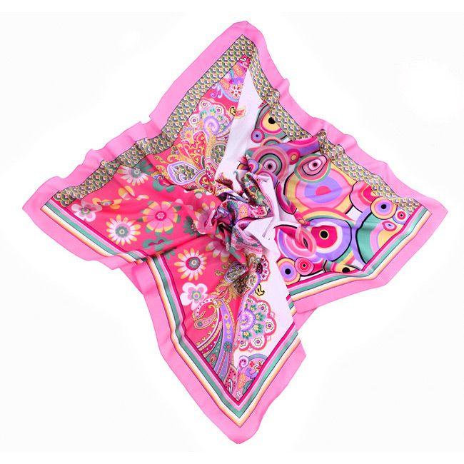 Платок Fattorseta В ритме сальсы розового цвета