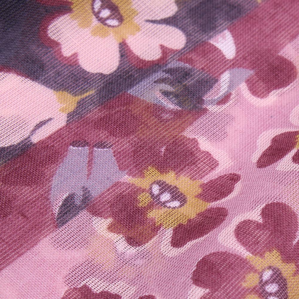 Палантин Fattorseta розового цвета с принтом