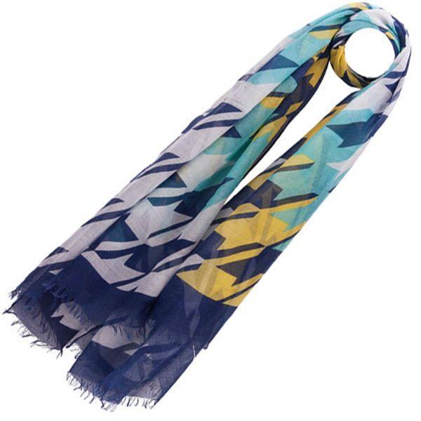 Тонкий шарф Pierre Cardin синий с желтым