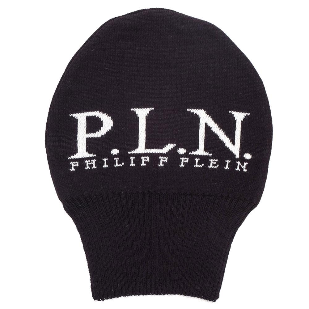 Длинная шапка Philipp Plein черного цвета