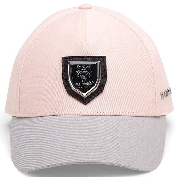 Розовая кепка Philipp Plein Plein Sport с серым козырьком
