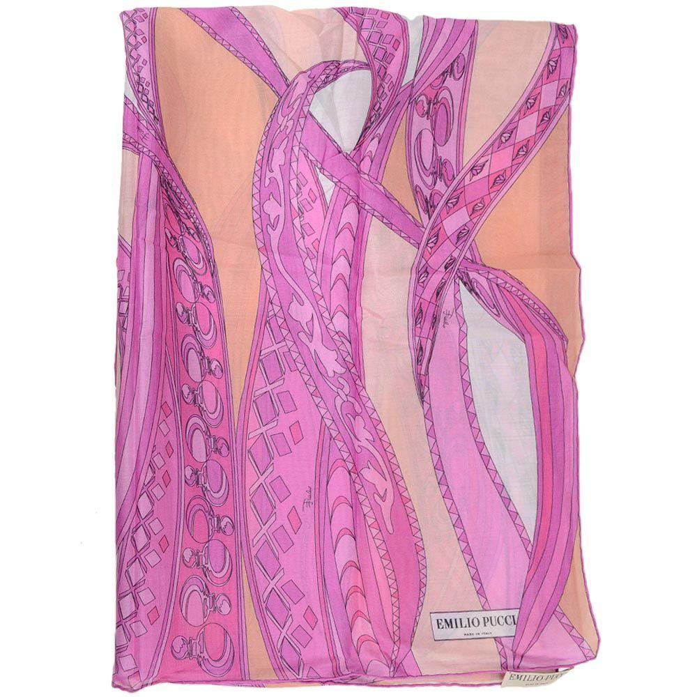 Шаль Emilio Pucci розовая тонкая приятная