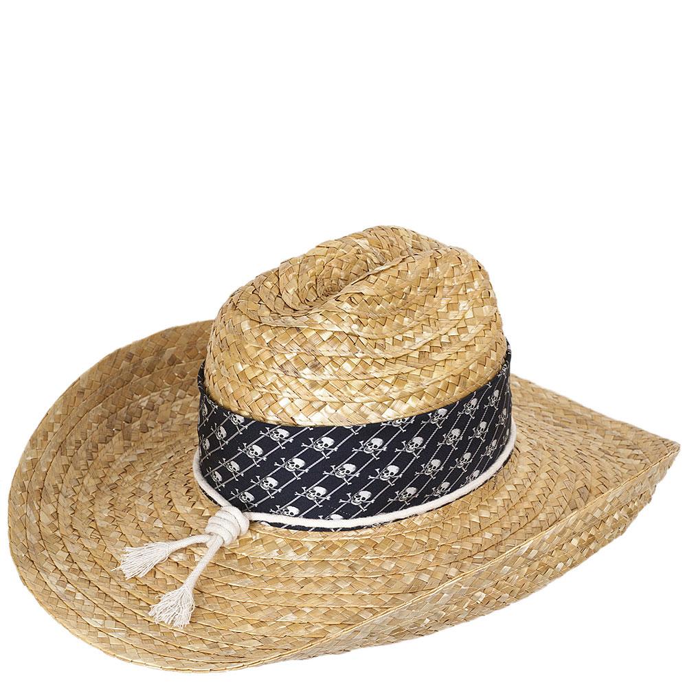 Плетеная шляпа Shapelie Джокер с лентой и шнурком