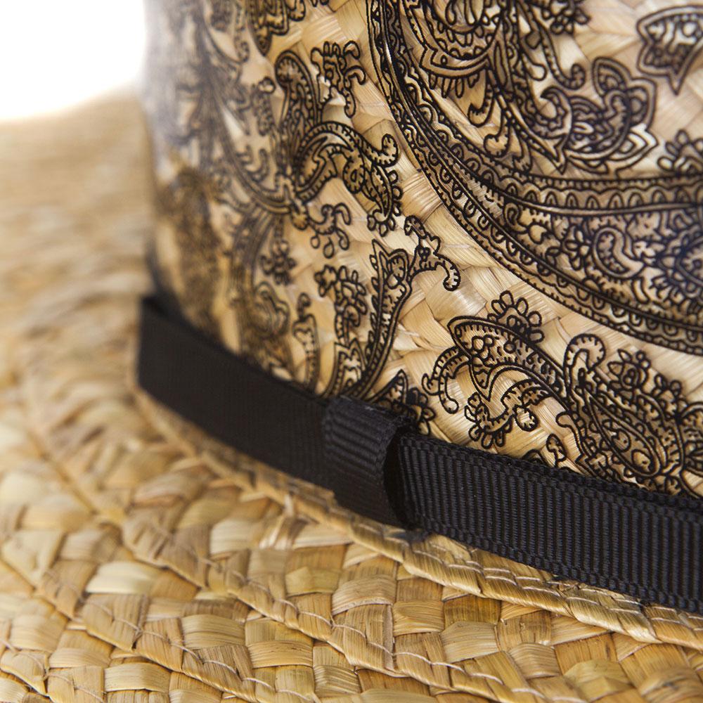Плетеное канотье Shapelie с узорной силиконовой вставкой