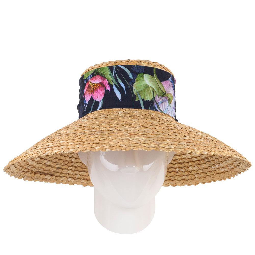 Соломенная шляпа Shapelie Грейс с лентой-шарфом