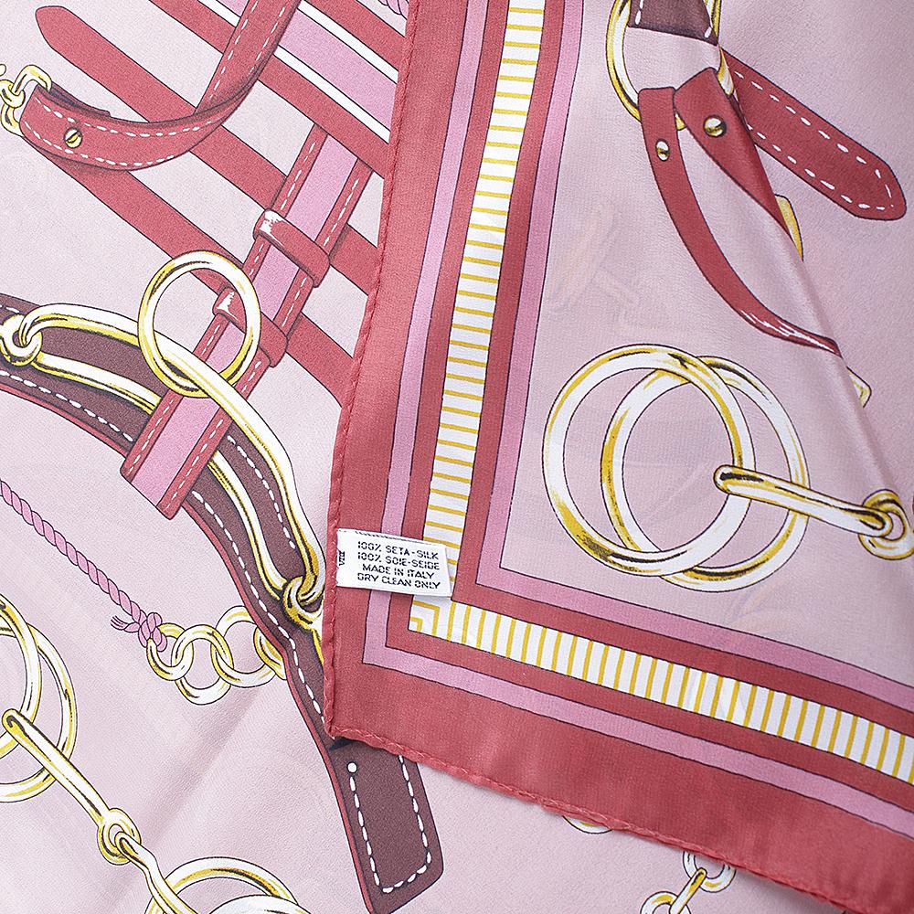 Платок шелковый Fattorseta цвета марсала