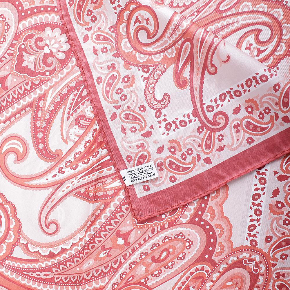 Коралловый платок Fattorseta из шелка