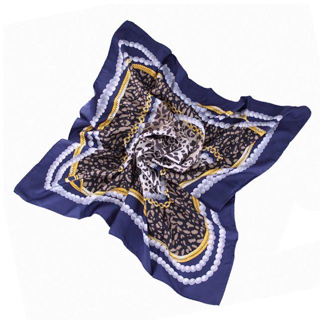 Шелковый платок с эффектным принтом Fattorseta