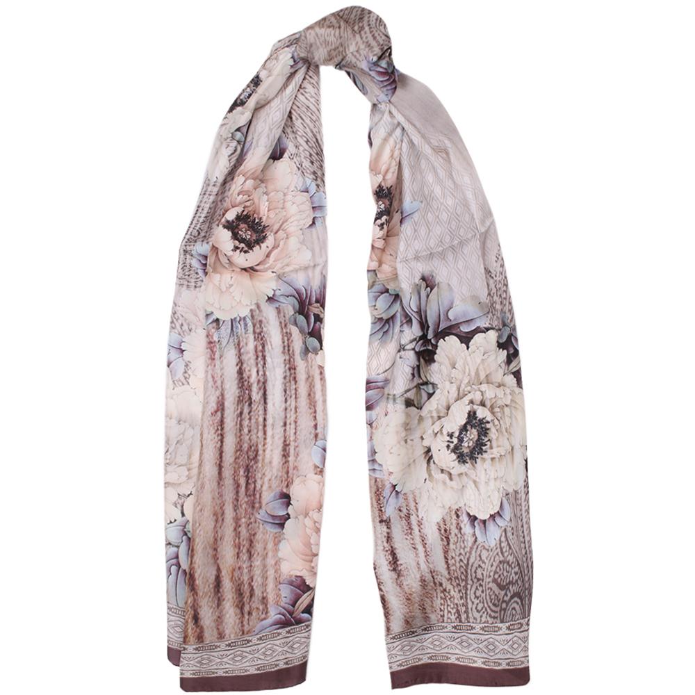 Шелковый платок Fattorseta цвета мокко