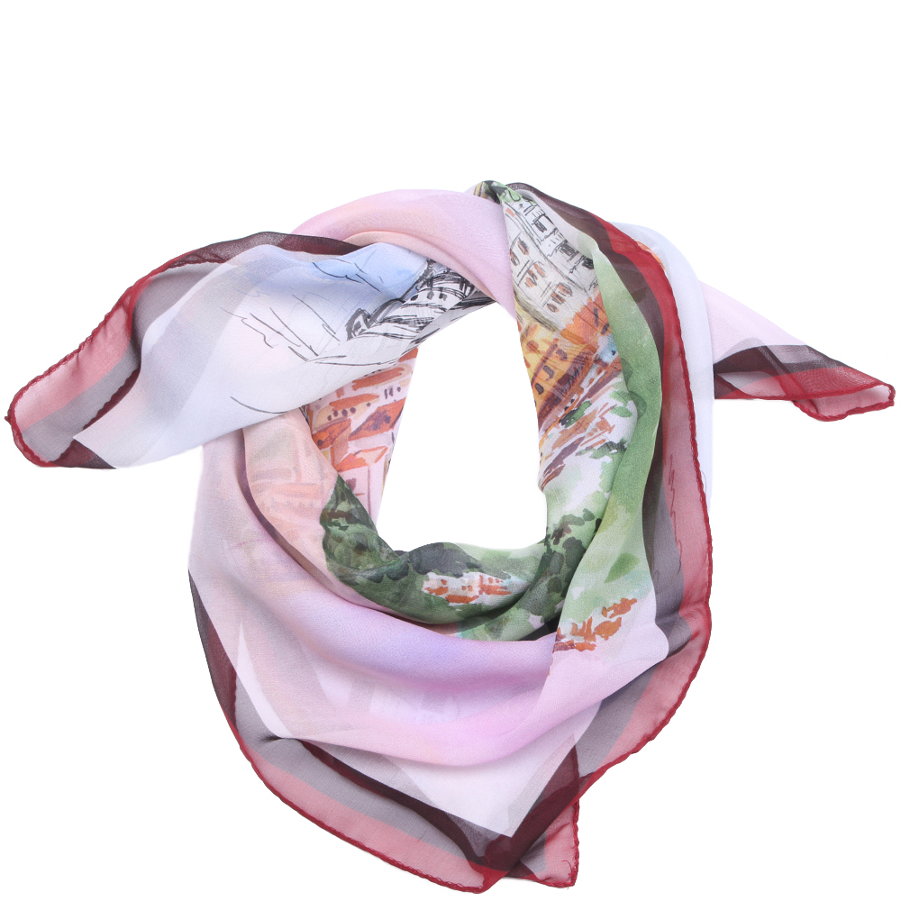 Шелковый платок Fattorseta с принтом города