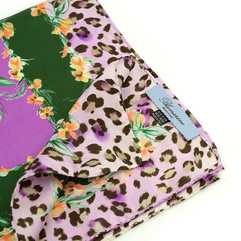 Шейный платок Blumarine с цветочно-животным принтом