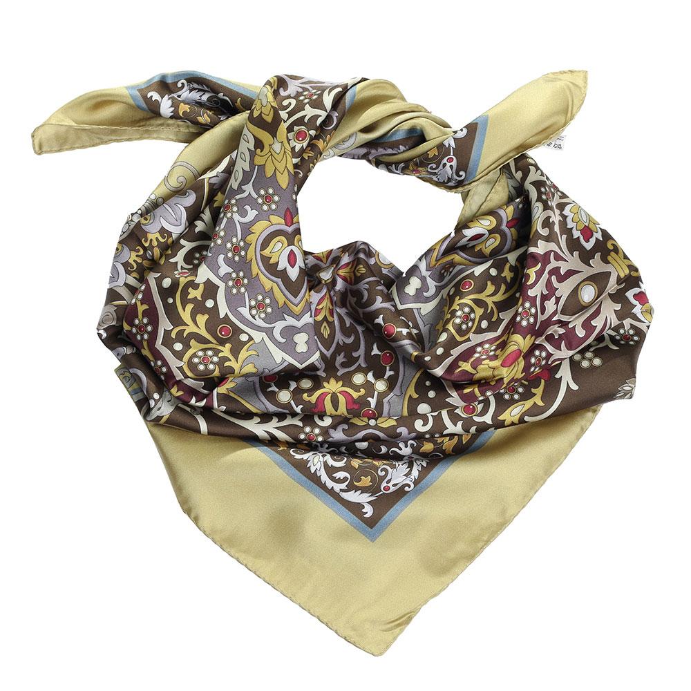 Платок Fattorseta из шелка с цветочным узором
