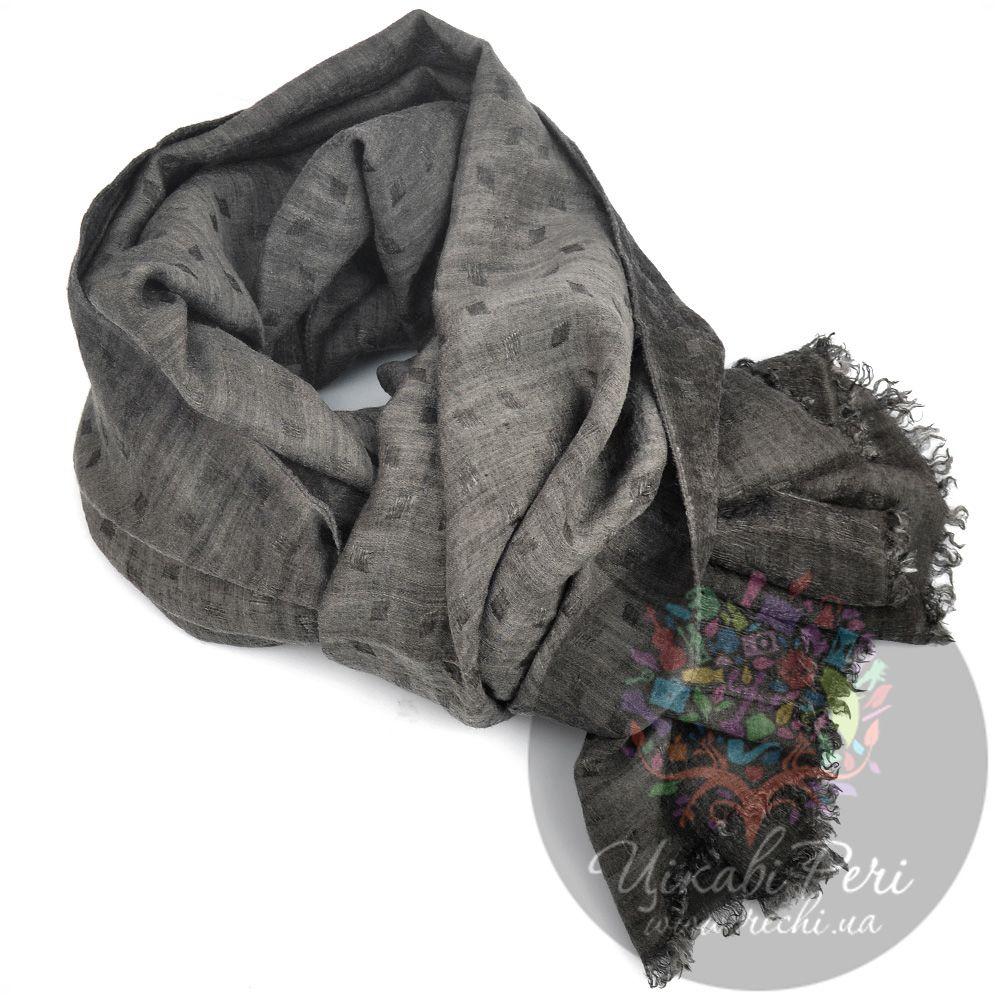 Палантин Armani Collezioni коричнево-серый