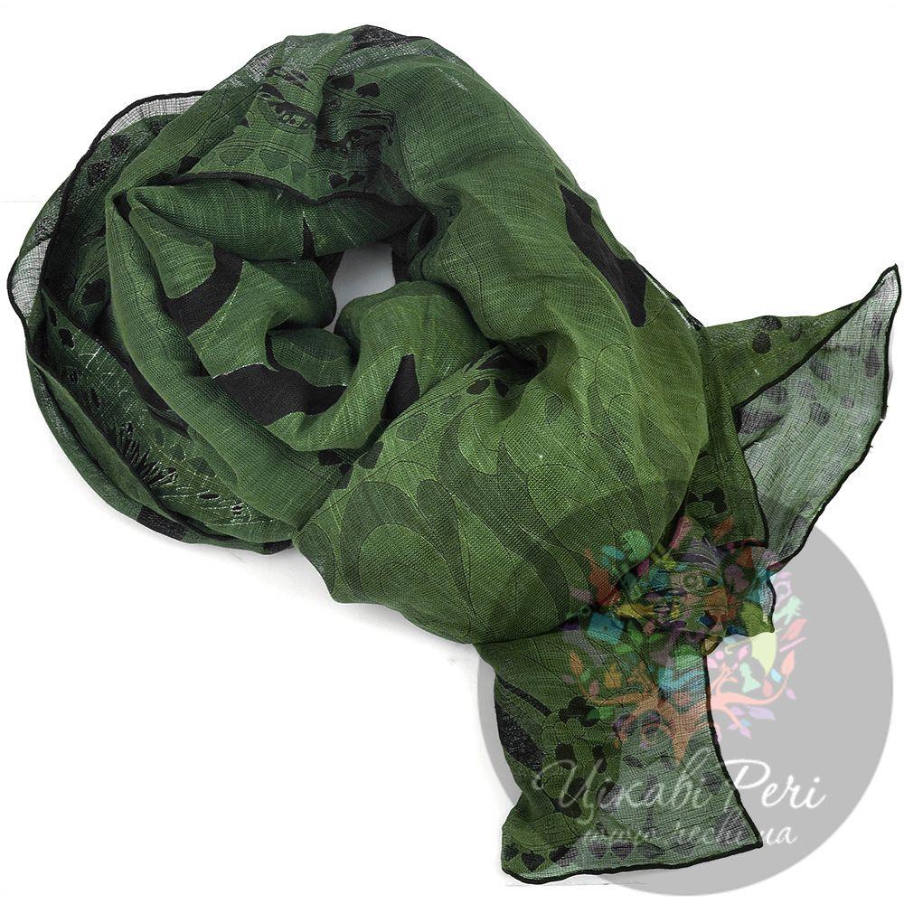 Палантин Emilio Pucci темно-зеленый