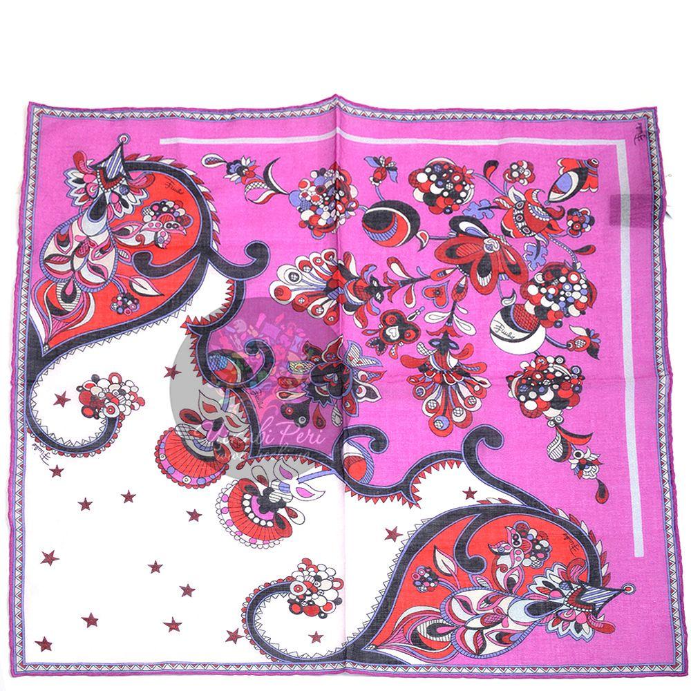 Шейный платок Emilio Pucci яркий розовый