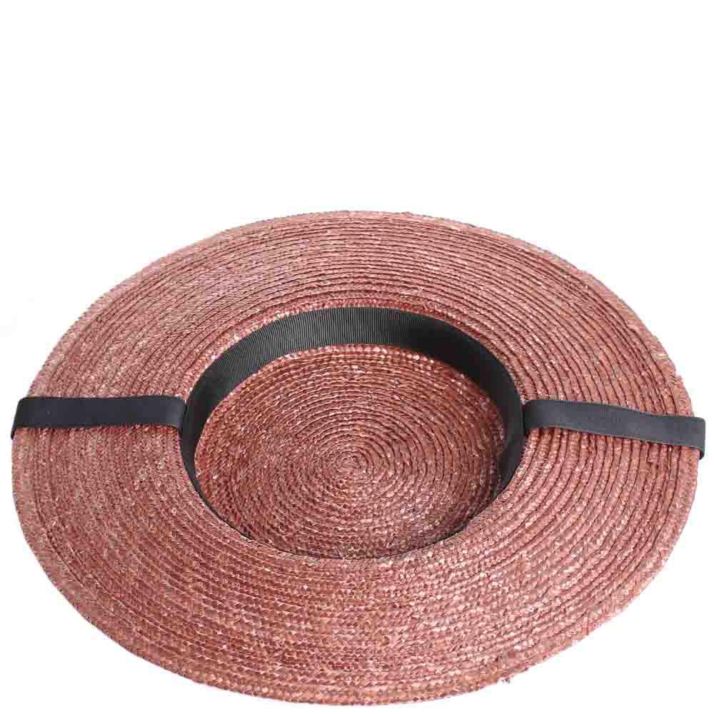 Соломенная шляпка Shapelie Джейн коричневого цвета