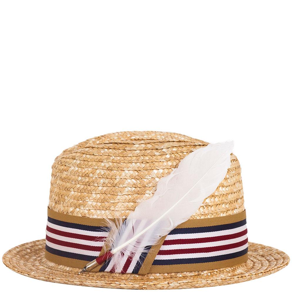 Мужская шляпа Shapelie Хьюго с декором-пером