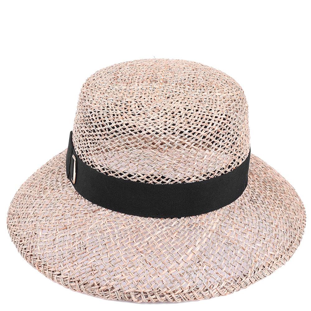 Женская полупрозрачная шляпа Shapelie Николь с лентой черного цвета