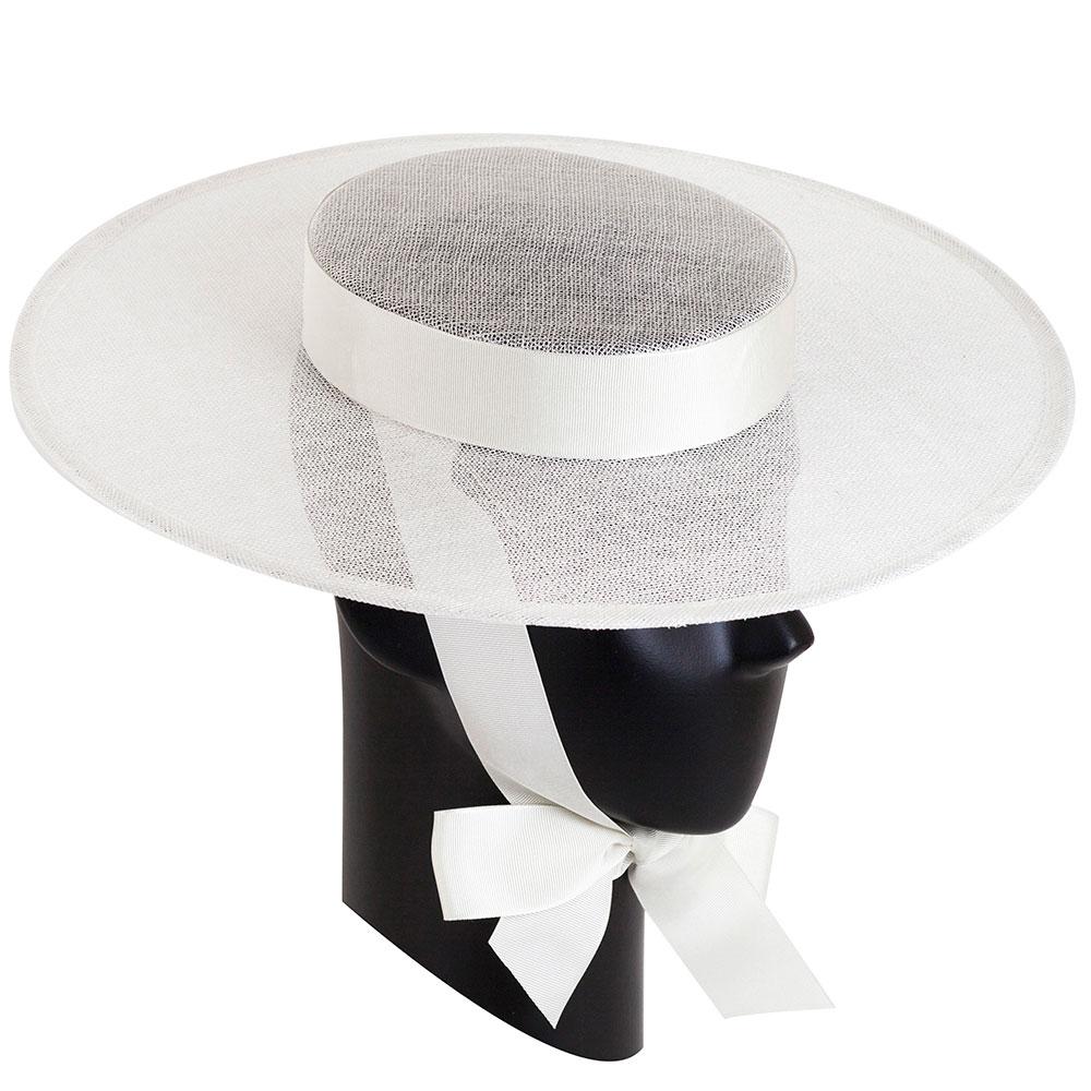 Белая шляпа Shapelie Скарлет с лентами-завязками