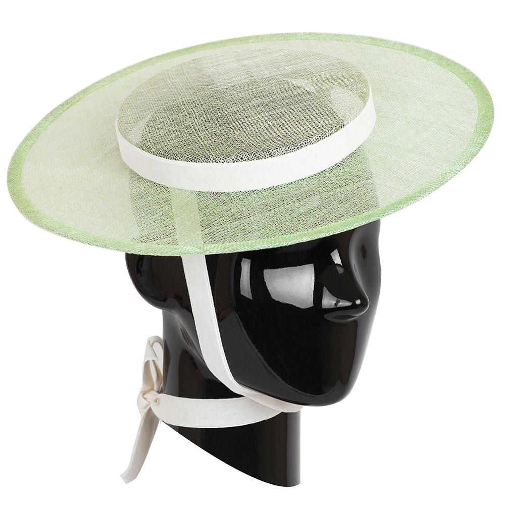 Шляпа женская Shapelie Джейн из синамей яблочного цвета
