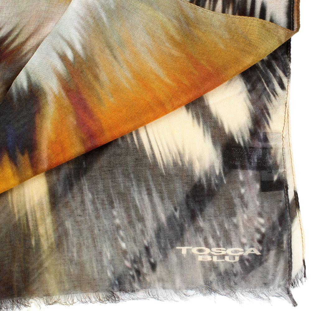 Шарф Tosca Blu Royal tea с абстрактным рисунком