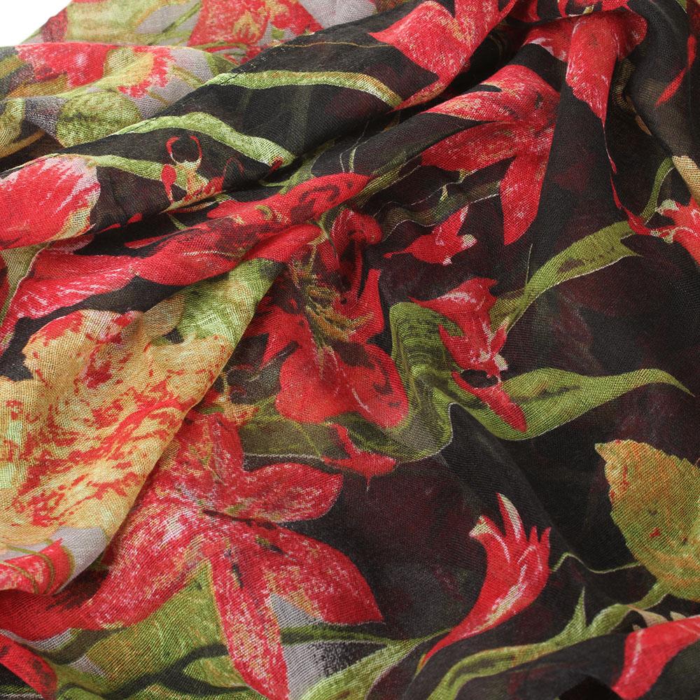 Шарф Tosca Blu Bonet с цветочным принтом