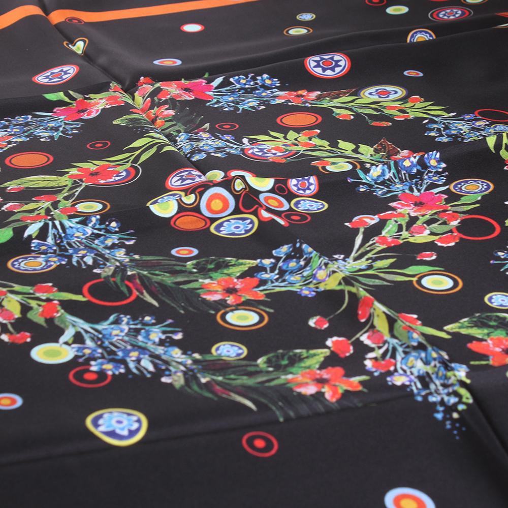 Шелковый платок Tosca Blu с цветочным принтом