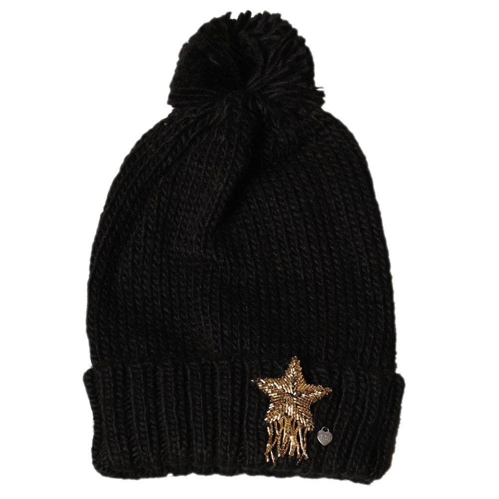 Женская вязаная шапка Twin-Set с большой звездой