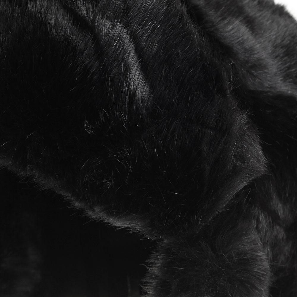Шапка-ушанка Urbancode London из искусственного меха черного цвета